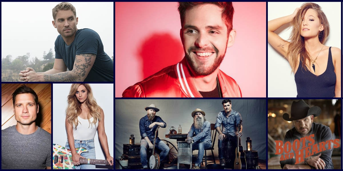 Boots & Hearts Sunday lineup with Thomas Rhett, Brett Young, Washboard Union, Lindsay Ell, Kira Isabella, Walker Hayes, Bobby Wills and more