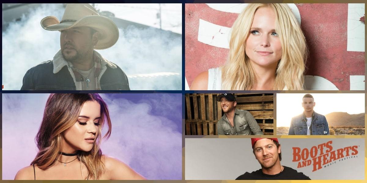 2019 Boots & Hearts Lineup featuring Jason Aldean, Mrianda Lambert, Maren Morris, Cole Swindell, Kane Brown, Kip Moore and More.