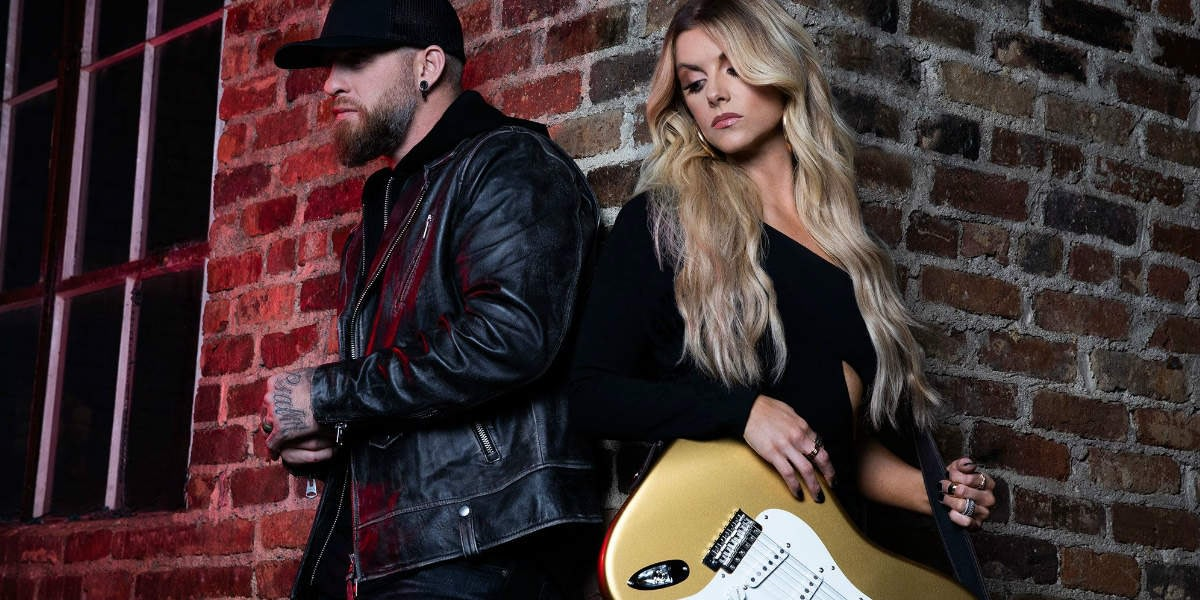 "Lindsay Ell and Brantley Gilbert together for ""What Happens in a Small Town"""