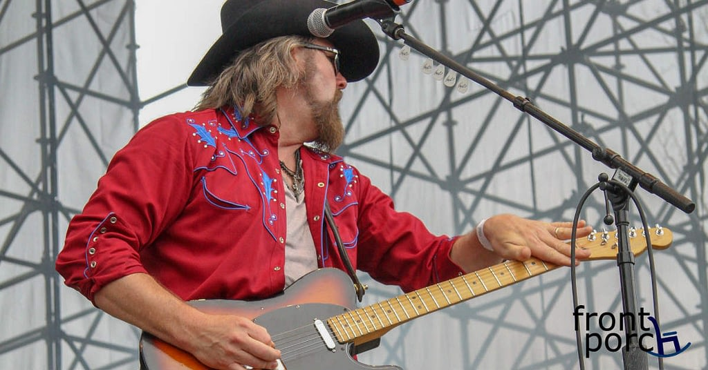 Jason McCoy Playing the Guitar at Big Sky Music Festival