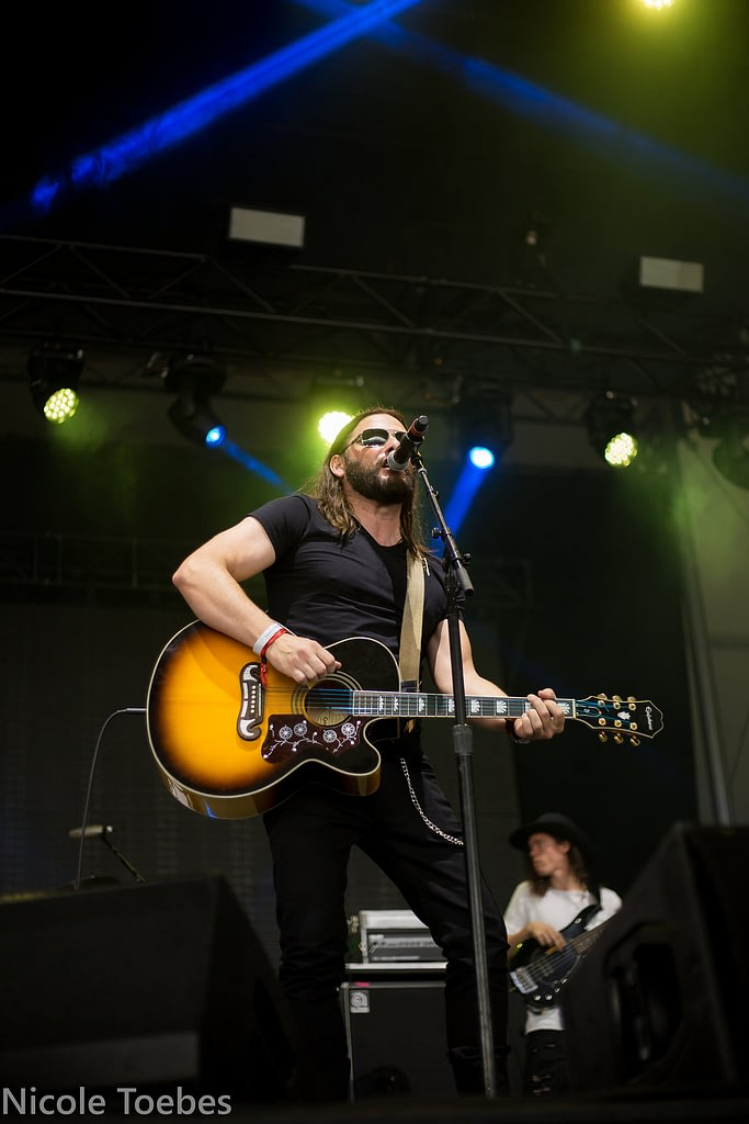 Brad James performing at Boots & Hearts 2018 Emerging artist showcase