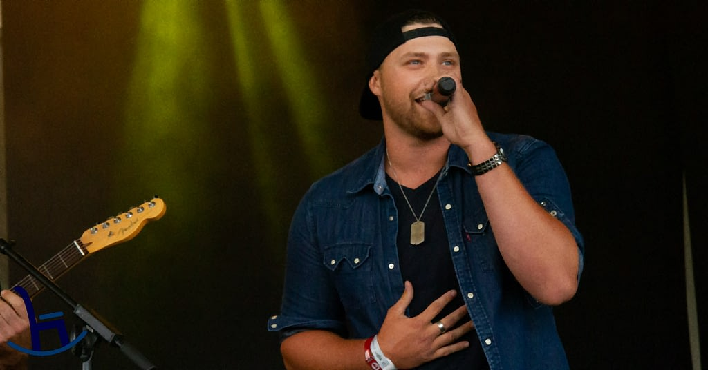 Country Artist Dylan Burk Performing on Stage