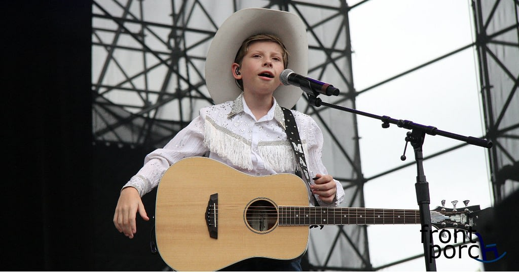 The yodelling kid from Walmart Mason Ramsay performing at Big Sky Music Festival