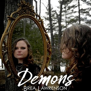 "Brea Lawrenson's album cover for her new single ""Demons"""