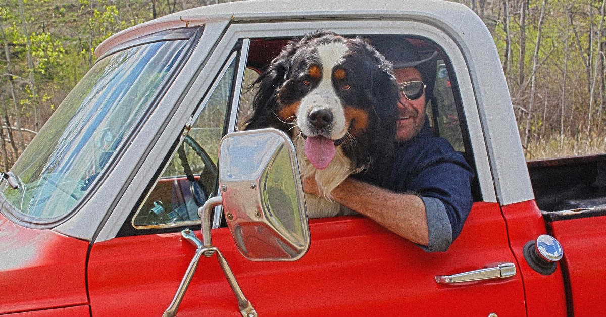 Canadian country artist marshall potts with his dog