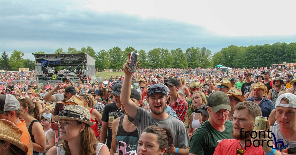 The crowd at Big Sky Music Festival 2019